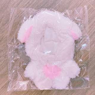 EXO hide&seek 15cm白色狗仔毛毛衫