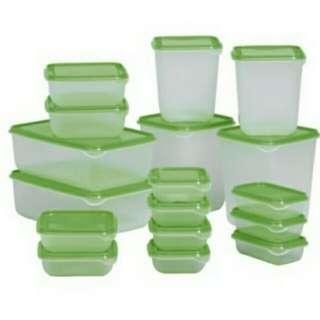 IKEA PRUTA 17 set wadah penyimpanan.free ongkir jabodetabek