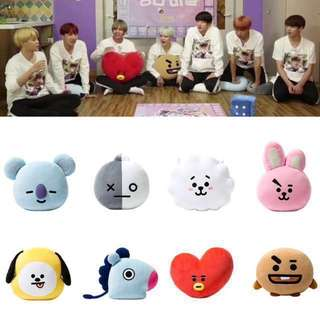 BTS BT21 Plush Pillow Plushy Face Toys Head Version Unofficial Cushion