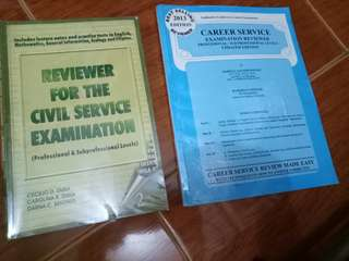 2 civil service reviewer books