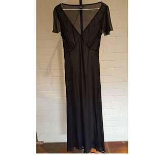 David Lawrence Black Maxi Long Dress Size 12 Excellent Condition