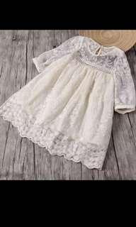 Latest Korean style lacy dress