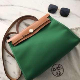 Hermès Herbag 31cm Green