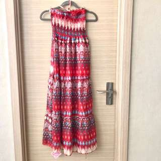 New Smocked Summer Print Maxi Dress - Small