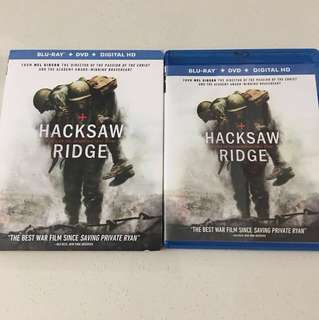 Hacksaw Ridge Blu Ray + DVD