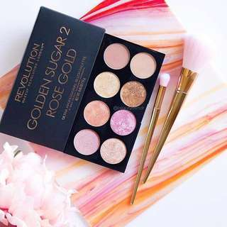Sale! Golden Sugar 2 Rose Gold Ultra Blush Palette by Makeup Revolution