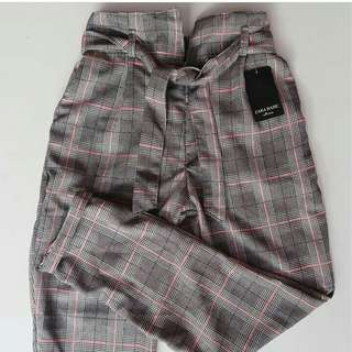 Checked pants zara