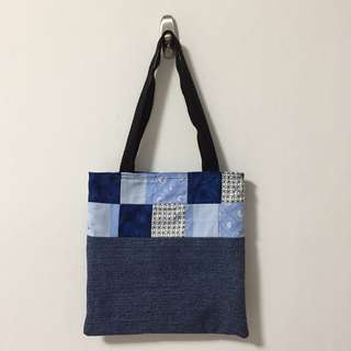 Patchwork Denim Little Tote