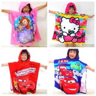 Children Hoodie Towel (Superman/Mickey/Minnie)