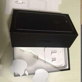 Iphone 7 plus 淨盒 連咭針 說明書 及白蘋果貼紙 Box only