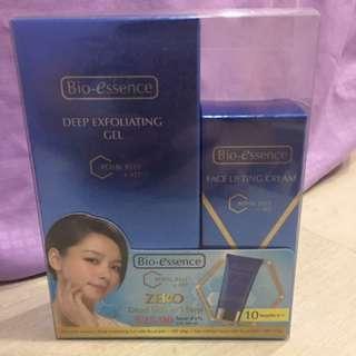 Deep exfoliating gel & face lifting cream