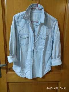美國名牌CAP春秋使水瑩價收腰牛仔恤衫配搭牛仔褲非常型長興款