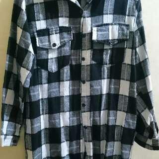Branded checkered dress (soft cotton)