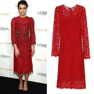 D &G Red lace dress