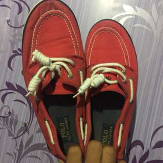 RALPH LAUREN topsider red