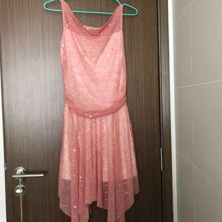 Dusty Pink Dress with Silver Glitter