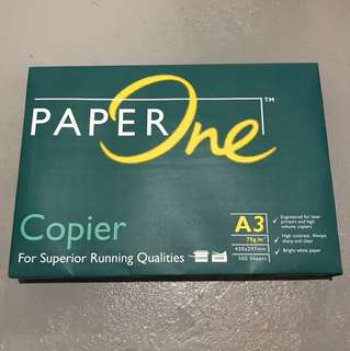 Paper One A3 Copier Paper 70gsm x500 sheets