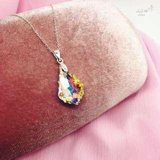 Swarovski pendant with a silver chain!💎s925