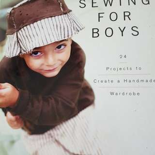 Sewing book for boys