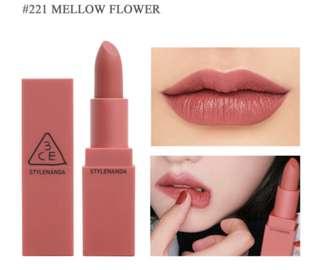 3CE Matte Lipstick 221 Mellow Flower