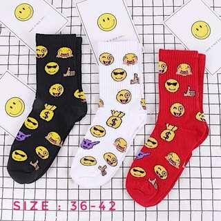 Pre Order : Korean Socks Emoji socks