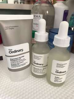 The Ordinary  (niacinamide, buffet & magnesium ascorbyl)