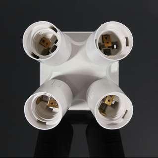 E27 Lamp Socket Splitter (4 in 1)