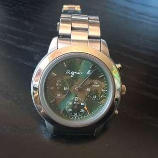 agnis b 經典地圖手錶