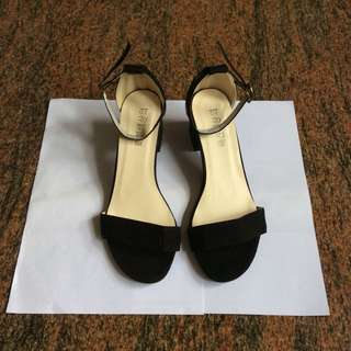 Korean Black Low Heels