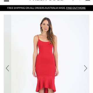 Fresh soul red dress