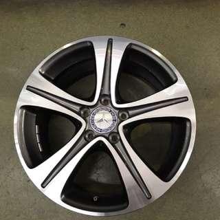 """17"""" 5x112 mercedes  e class original wheel from new car 1 set $400"""