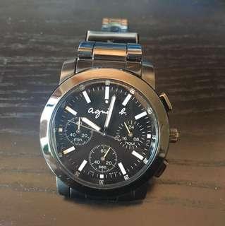 agnis b 全黑手錶