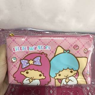 Last PCS Little Twin Stars Zip Pouch cum tissue pouch holder