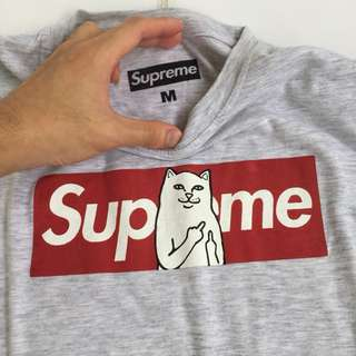 supreme shirt cat