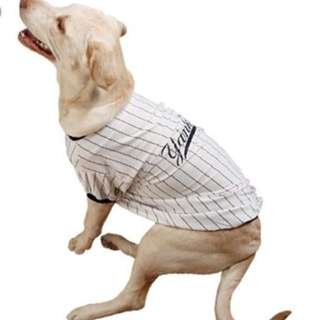 Yankees baseball jersey for Dog