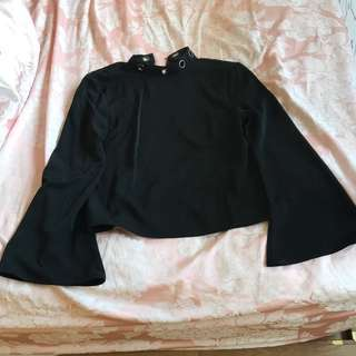 Black Long sleeve top in size M