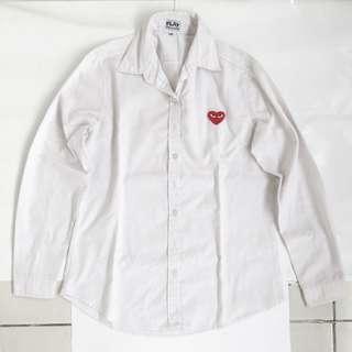 cdg tshirt white