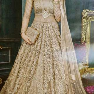 Ori India Women Lehenga / Full Stone Work Wedding Gown / Gaun Pengantin / Gaun Pesta