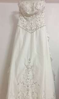 Ivory embellished wedding ball gown [labelle]