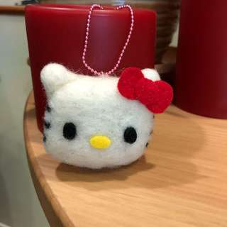 Handmade Hello Kitty inspired keychain