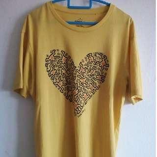 Uniqlo x Keith Haring T-Shirt (Kuning)