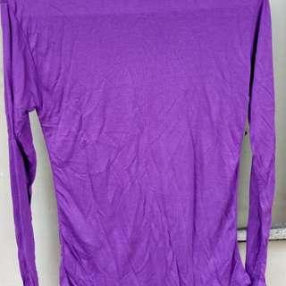 Violet Long Sleeve Fitted Turtleneck