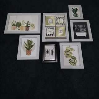 Pesanan 28pcs Wall Decor with frame