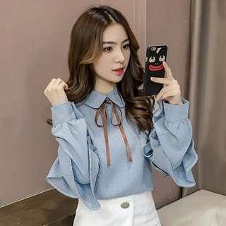 OL長袖衫,(代購)韓國人的潮流款式
