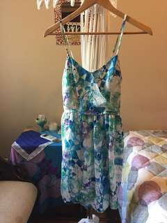 Silky-feel summer dress [free normal mail]
