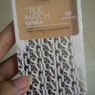 L'oreal paris true match genius 4-in-1 (primer+foundation+concealer+powder) N1 Nude Ivory