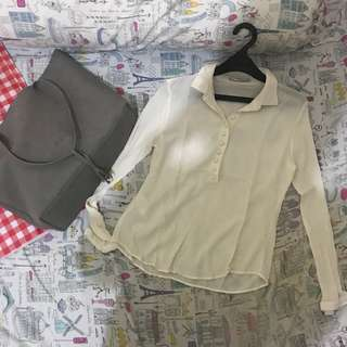 Sale Broken white shirt mango