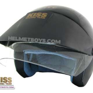 Kiss Matte Black Helmet