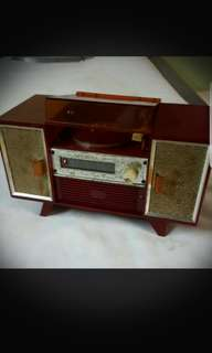 Vintage Musical Box Turntable Made in Japan