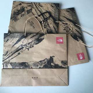 The North Face paper Bag